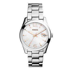 Fossil Ladies' Perfect Boyfriend Two Tone Bracelet Watch - Product number 2838591