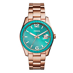 Fossil Ladies' Perfect Boyfriend Rose Gold Tone Watch - Product number 2838605