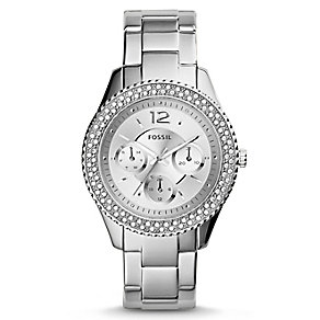 Fossil Ladies' Stella Silver Tone Stone Set Bracelet Watch - Product number 2838788