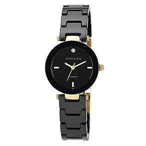 Anne Klein Ladies' Diamond & Black Ceramic Watch - Product number 2839377