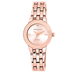 Anne Klein Ladies' Rose Gold PlateDiamond Set Bracelet Watch - Product number 2839407