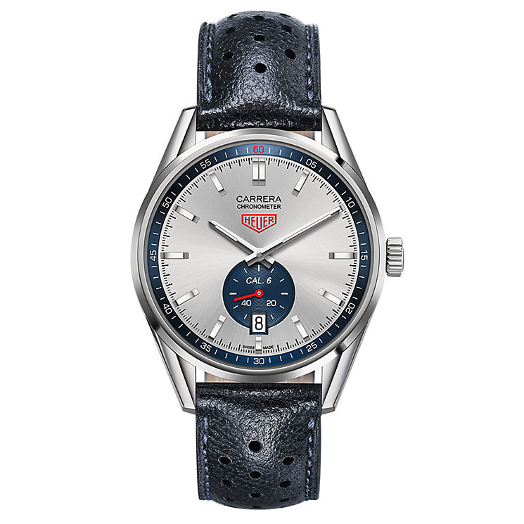 Tag Heuer Carrera men's stainless steel blue strap watch - Product number 2840065