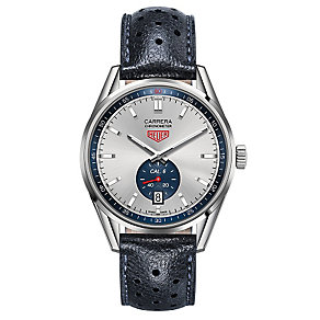 Tag Heuer Carrera men's stainless steel black strap watch - Product number 2840065