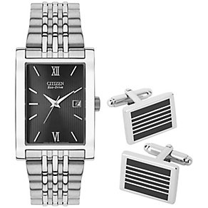 Citizen Eco Drive Men's Stainless Steel Watch Set - Product number 2840464