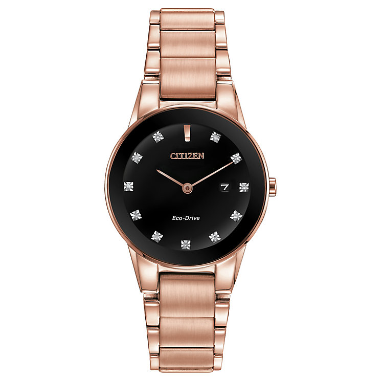 Citizen Ladies' Eco Drive Axiom Diamond Bracelet Watch - Product number 2840650