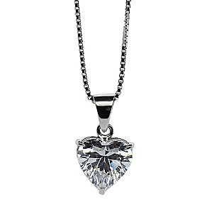 CARAT* 9ct white gold, heart shaped pendant. - Product number 2840782