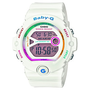 Casio Baby-G Ladies' White Alarm Chronograph Watch - Product number 2841088