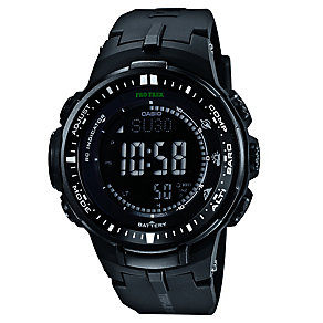 Casio ProTrek Men's Black Resin Strap Watch - Product number 2841169