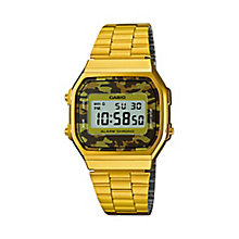 Casio Men's Yellow Gold Plated Camouflage Digital Watch - Product number 2841185