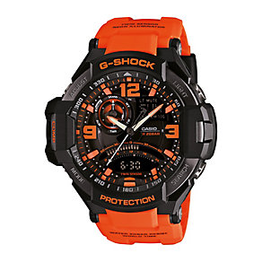 Casio G-Shock Men's Black & Orange Resin Watch - Product number 2841223