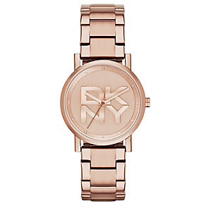 DKNY Soho ladies' rose gold-plated bracelet watch - Product number 2841754