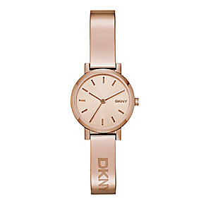 DKNY Soho ladies' rose gold-plated bangle watch - Product number 2841827