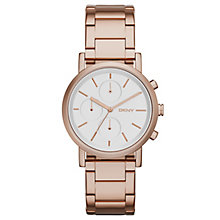 Dkny Soho Ladies' Rose Gold Tone Bracelet Watch - Product number 2845784