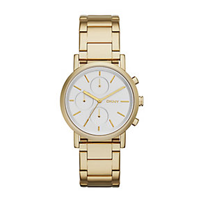 Dkny Ladies' Soho Gold Tone Bracelet Watch - Product number 2845792