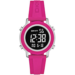 DKNY ladies' Tom stainless steel digital rubber strap watch - Product number 2845849