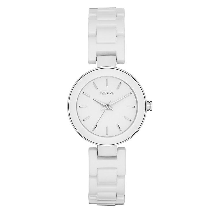 Dkny Stanhope Ladies' Stainless Steel Ceramic Bracelet Watch - Product number 2845857