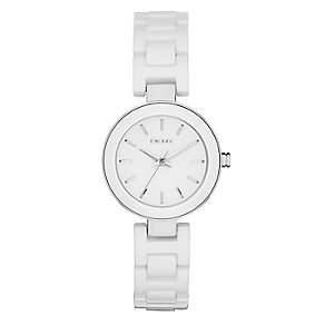 Dkny Stanhope Ladies' Stainless Steel Ceramic Bracelet Watch - Product number 2845857