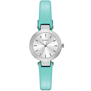 DKNY ladies' Stanhope stainless steel turquoise strap watch - Product number 2845881