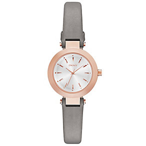 DKNY Stanhope ladies' stainless steel leather strap watch - Product number 2845903