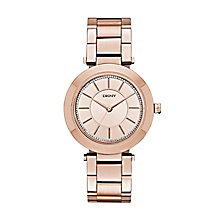 Dkny Ladies' Rose Gold Tone Stainless Steel Bracelet Watch - Product number 2845954