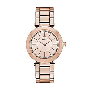 DKNY ladies' rose gold-plated stainless steel bracelet watch - Product number 2845954