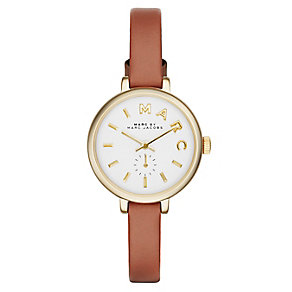 Marc Jacobs Sally ladies' gold-plated leather strap watch - Product number 2845997
