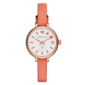 Marc Jacobs ladies' rose gold-plated leather strap watch - Product number 2846012