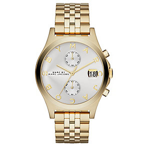 Marc Jacobs Ladies' Gold Tone Slim Bracelet Watch - Product number 2846039