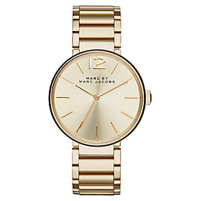 Marc Jacobs Peggy ladies' gold-plated bracelet watch - Product number 2846101
