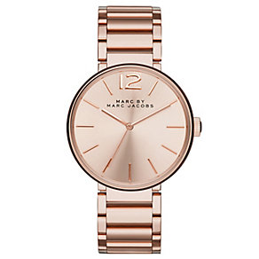 Marc Jacobs Peggy ladies' rose gold-plated bracelet watch - Product number 2846136