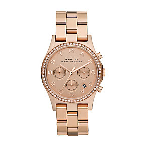 Marc Jacobs Henry ladies' rose gold-plated bracelet watch - Product number 2846160