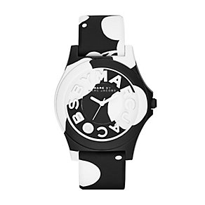 Marc Jacobs Sloane ladies' ion-plated black and white watch - Product number 2846195