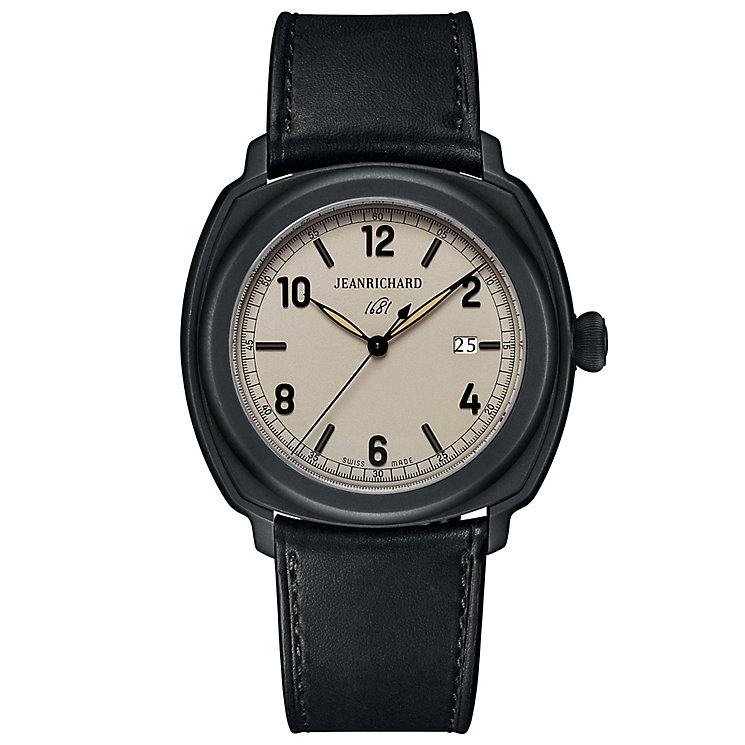 JEANRICHARD men's 1681 black strap watch - Product number 2846853