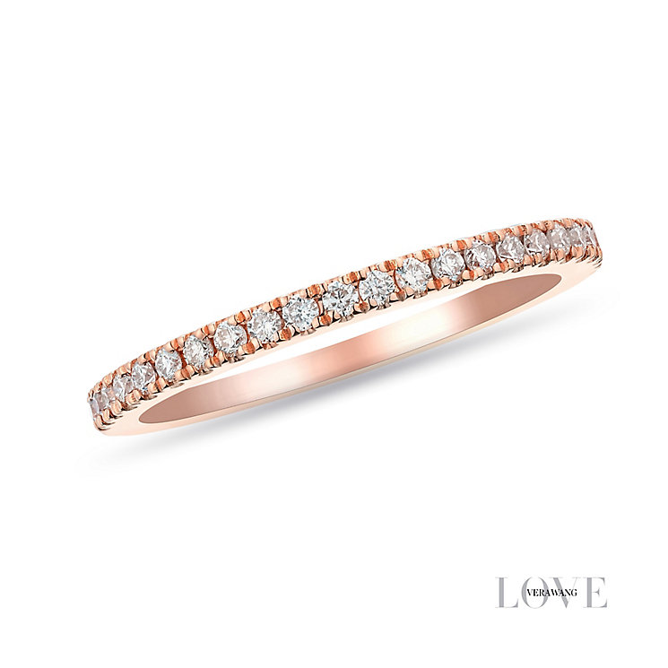 Vera Wang 18ct Rose Gold 0.23ct Diamond Band - Product number 2849143