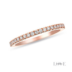 Vera Wang 18ct rose gold 23pt diamond band - Product number 2849143