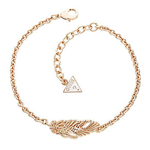 Guess Rose Gold Plated Feather Bracelet - Product number 2852845
