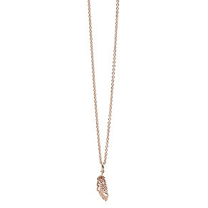 Guess Rose Gold Plated Feather Drop Pendant - Product number 2852888