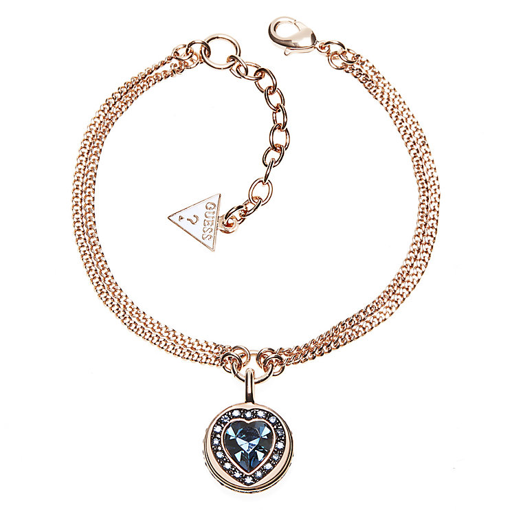 Guess Rose Gold Plated Coins of Love Bracelet - Product number 2852896