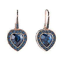 Guess Rose Gold Plated Coins of Love Drop Earrings - Product number 2852918