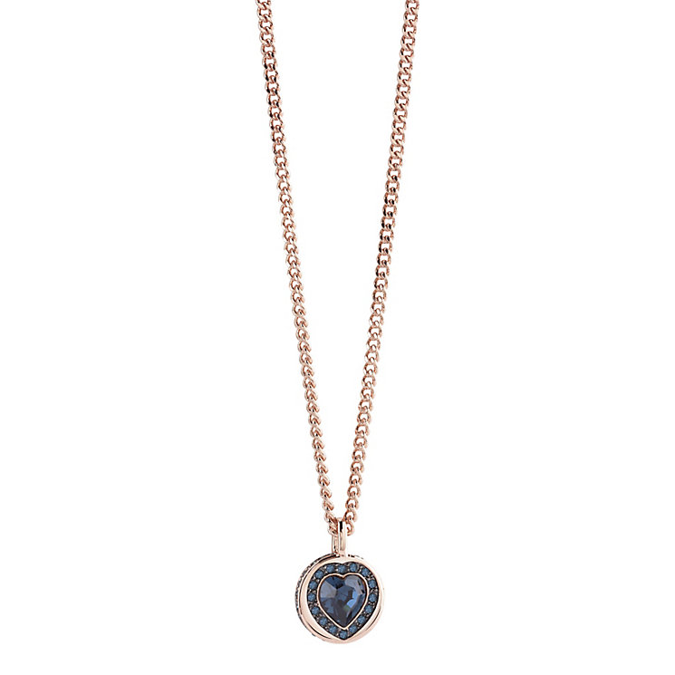 Guess Rose Gold Plated Coins of Love Drop Pendant - Product number 2852926