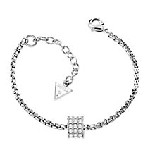 Guess Rhodium Plated Crystal Barrel Bracelet - Product number 2852950