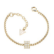 Guess Yellow Gold Plated Crystal Barrel Bracelet - Product number 2852969