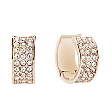 Guess Rose Gold Plated Crystal Set Hoop Earrings - Product number 2853000