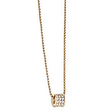 Guess Yellow Gold Plated Crystal Set Charm Drop Pendant - Product number 2853027