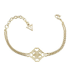 Guess Yellow Gold Plated Linked Logo Bracelet - Product number 2853051