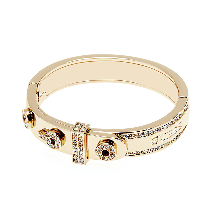 Guess Yellow Gold Plated Absolute Crystal Set Ring - Product number 2853116