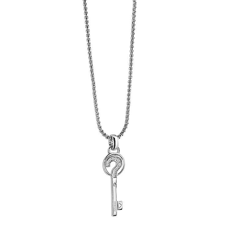 Guess Rhodium Plated The Secret Key Pendant - Product number 2853159