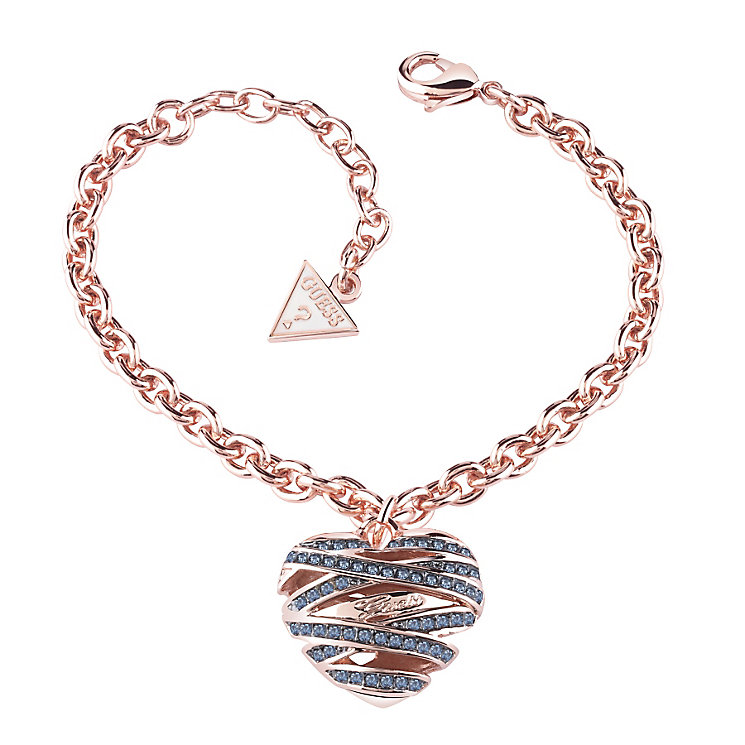 Guess Wrapped With Love Rose Gold Plated Heart Bracelet - Product number 2853264