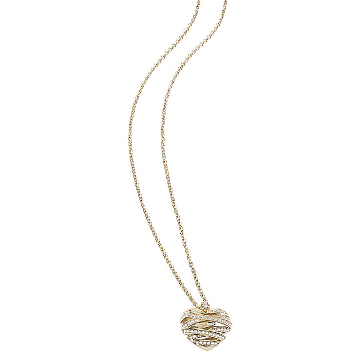 Guess Wrapped With Love Yellow Gold Plated Heart Pendant - Product number 2853310