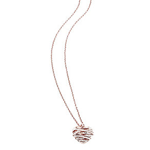 Guess Wrapped With Love Rose Gold Plated Heart Pendant - Product number 2853329